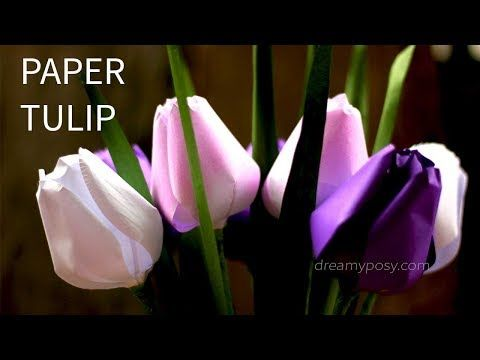 Free template and tutorial how to make paper tulip flower from free template and tutorial how to make paper tulip flower from printer paper youtube mightylinksfo