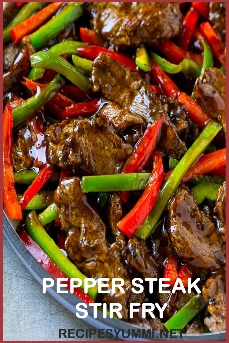 pepper steak stir fry in 2020  pepper steak steak dishes