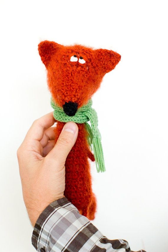 Crochet red fox by totootse on Etsy, $69.00