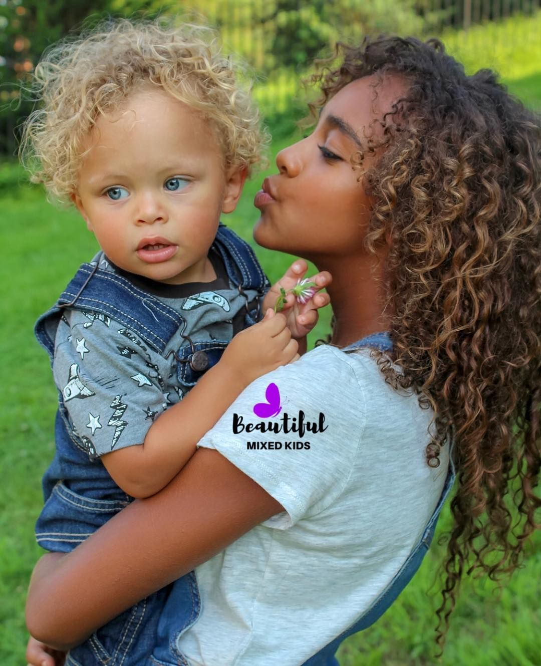 "BEAUTIFUL MIXED KIDS on Instagram ""Brooklyn & Kingston • Mom"