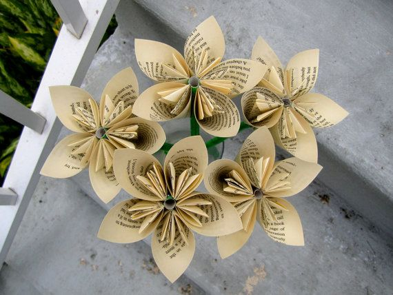 Paper flowers made from book pages so clever art paper arts paper flowers made from book pages so clever mightylinksfo
