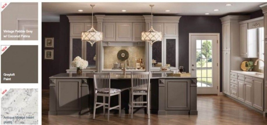 Kitchens with light pine floors elegant kitchen for Grey kitchen cabinets what colour walls
