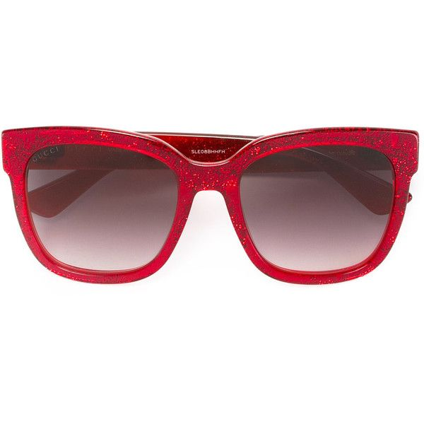 7668a97f723 Gucci Eyewear square frame glitter sunglasses (530 520 LBP) ❤ liked on Polyvore  featuring accessories