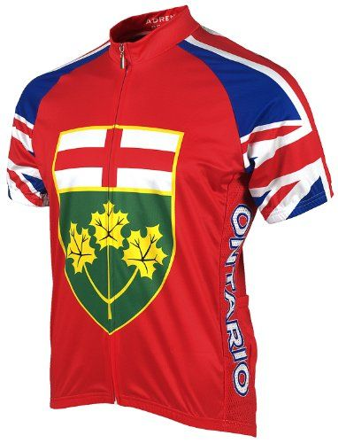 Adrenaline Promotions Canadian Provinces Ontario Cycling Jersey Multi Large    Check out this great product.Note It is affiliate link to Amazon. fa2808eb0