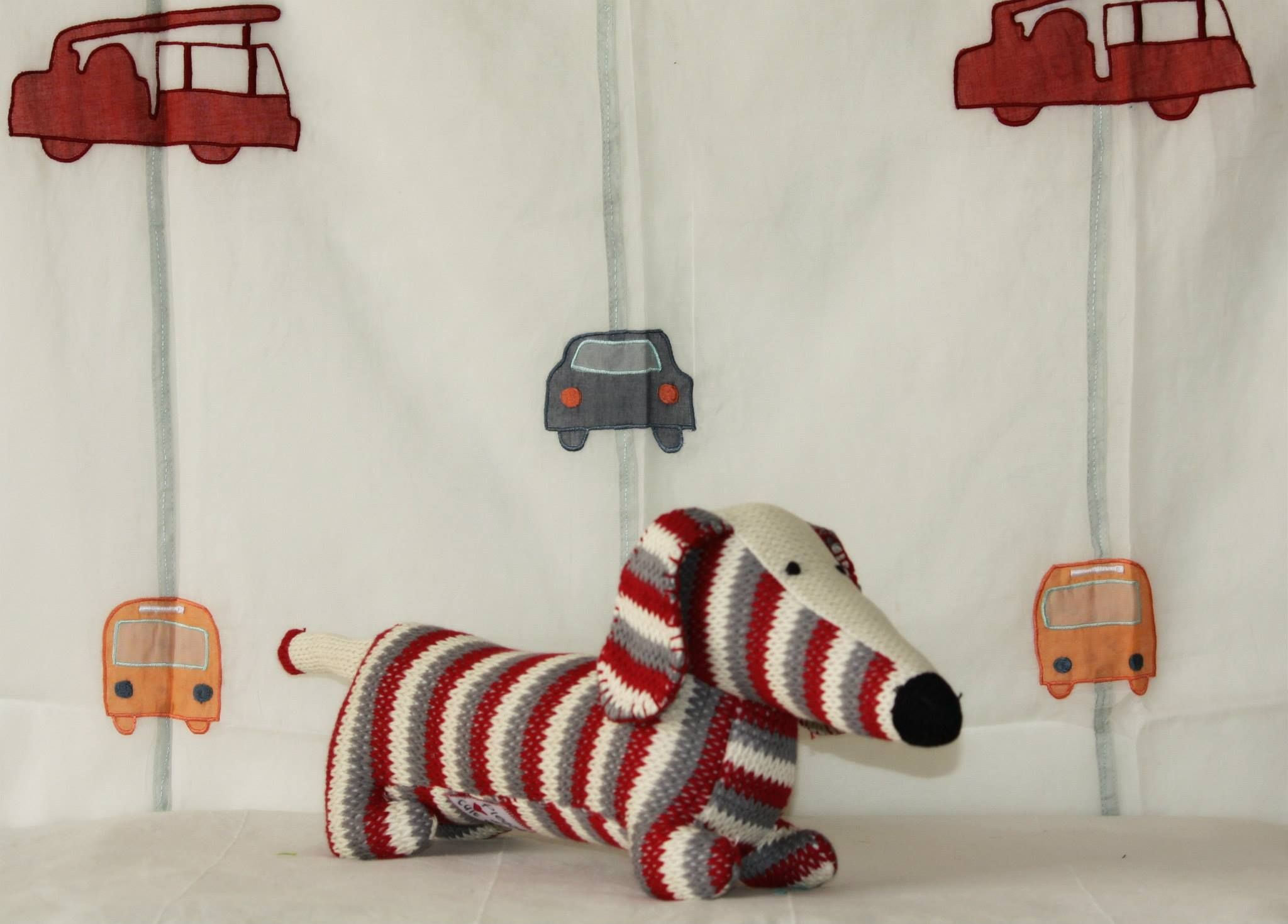 Retro the stripped footlong dog  #Dog #softtoy #tinytoys #red #kids #india #indian #footlong #Baby #babyboy #babygirl #boy #girl #gift #toy  If you are interested in buying this toy, shop at https://www.facebook.com/connectZoey  Or write us at connectzoey@gmail.com
