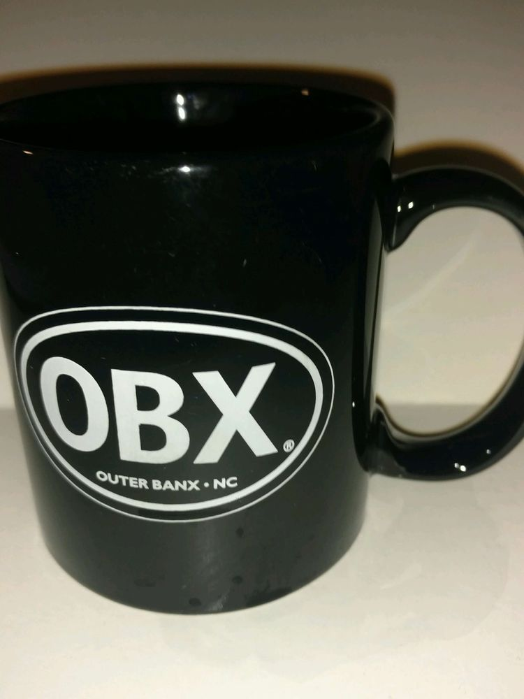 Outer Banx NC North Carolina OBX Black Collectible Coffee Mug