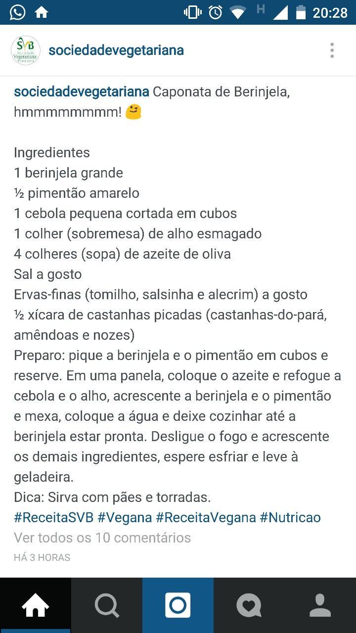 caponata de beringela cozida