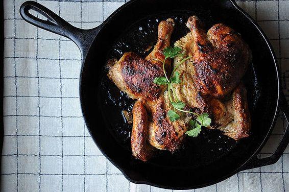 roasted butterflied chicken with cardamom & yogurt ++ food52