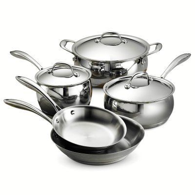 Tramontina Gourmet Domus Tri-Ply Base 8 Piece Cookware Set - 80102/200DS
