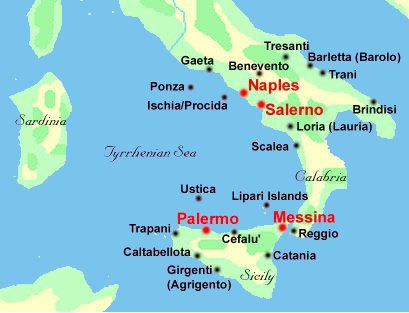 Cities In Sicily Italy Map.National Geographic Map Of Southern Italy And Sicily Southern