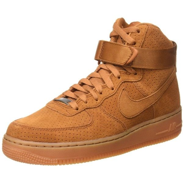 8b2fd0807d29a Amazon.com: Nike Women's Air Force 1 High Suede - Tawny / Gum Med ...