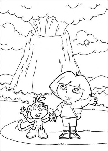 Free Volcano Coloring Pages For Kids