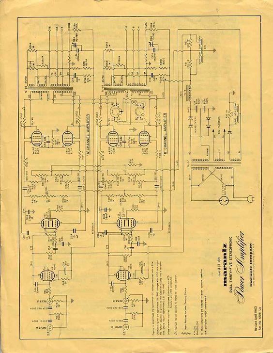 Marantz 8B nel 2019   Radioamatori, Elettronica e Schema on marantz 8b amplifier, fisher x 1000 schematic, mcintosh mc275 schematic, marantz 8b power supply,