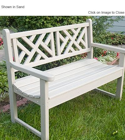 Polywood Cb48 Chippendale Garden Bench Furniture