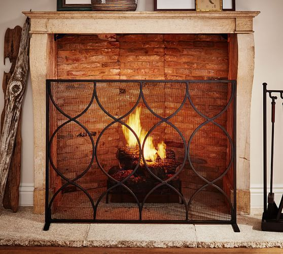 Moroccan Twist Fireplace Single Screen Fireplace Fireplace Screens Simple Fireplace