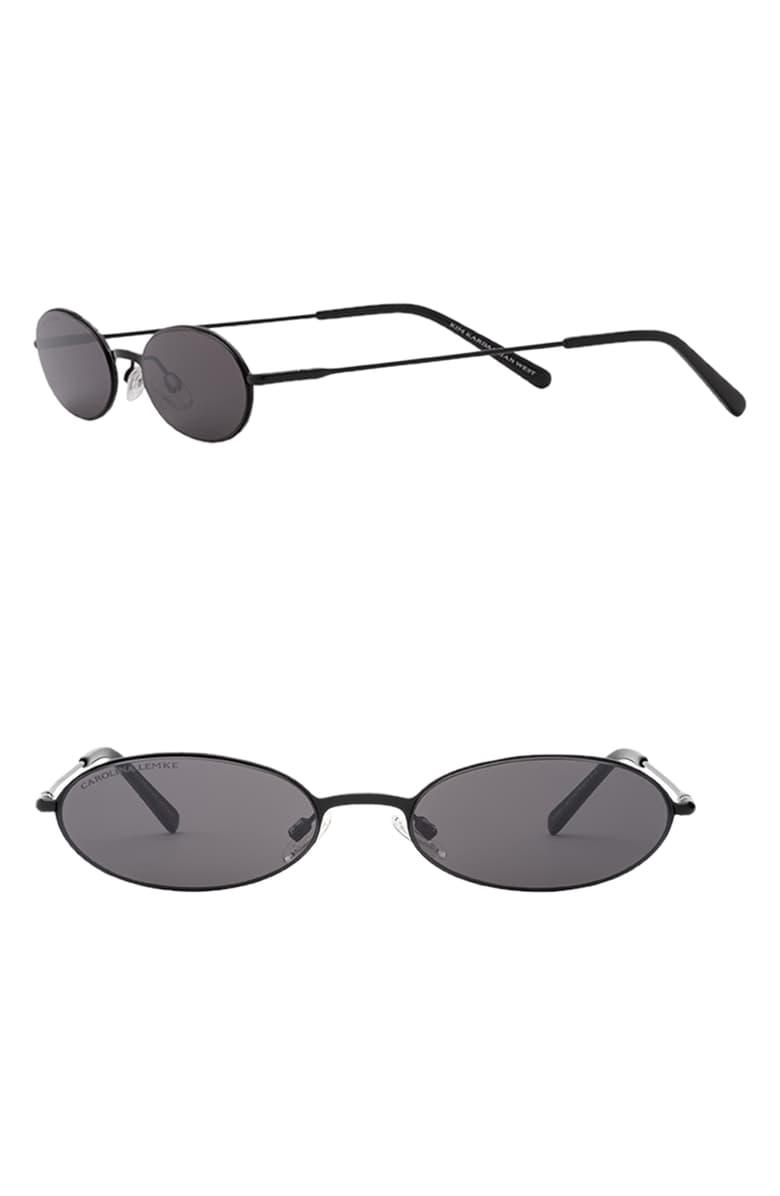 Carolina Lemke X Kkw Sand 53mm Flat Front Oval Sunglasses Nordstrom Oval Sunglasses Sunglasses Women Fashion Cat Eye Sunglasses Women