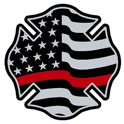 American flag firefighter. Exclusive maltese with red