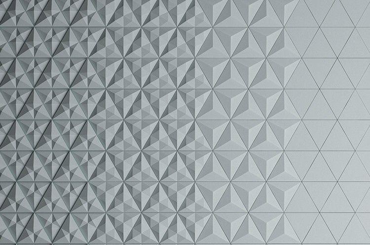 Tuiles Modulables En Beton De Formes Geometriques Comme Carrelage Mural Gris Perle Parement Mural Revetement Metallique Carrelage Mural