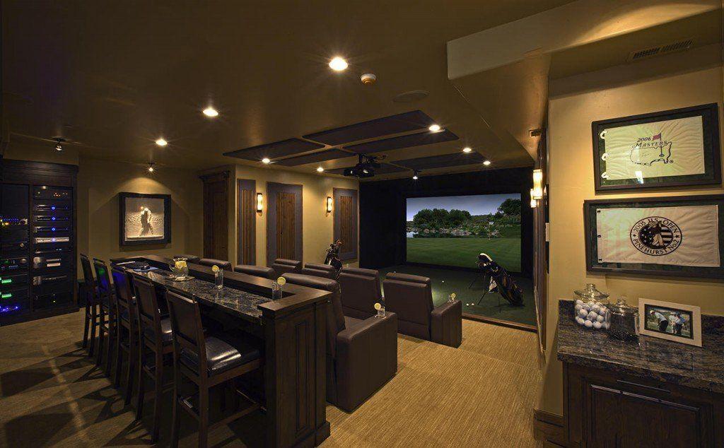 Indoor golf simulator photo gallery trugolf games for Room simulator