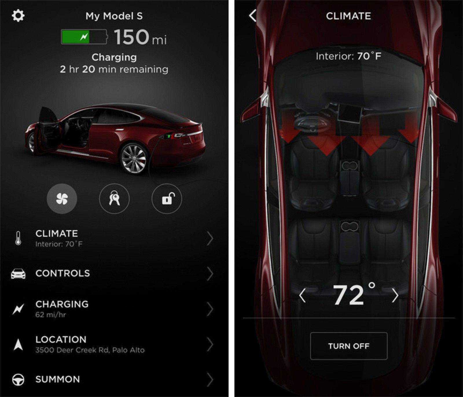 Tesla releases completely redesigned iphone app with touch