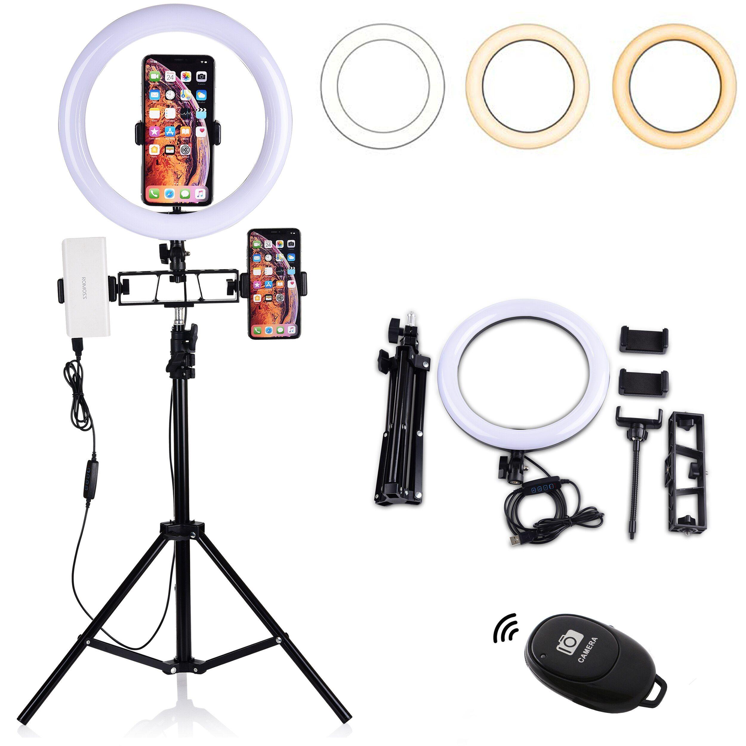 Led Ring Light With Tripod Stand For Youtube Video Beauty Table Top Makeup Lamp Desktop Objetos De Decoração Para Quarto Estúdio De Gravação Em Casa Luz De Led