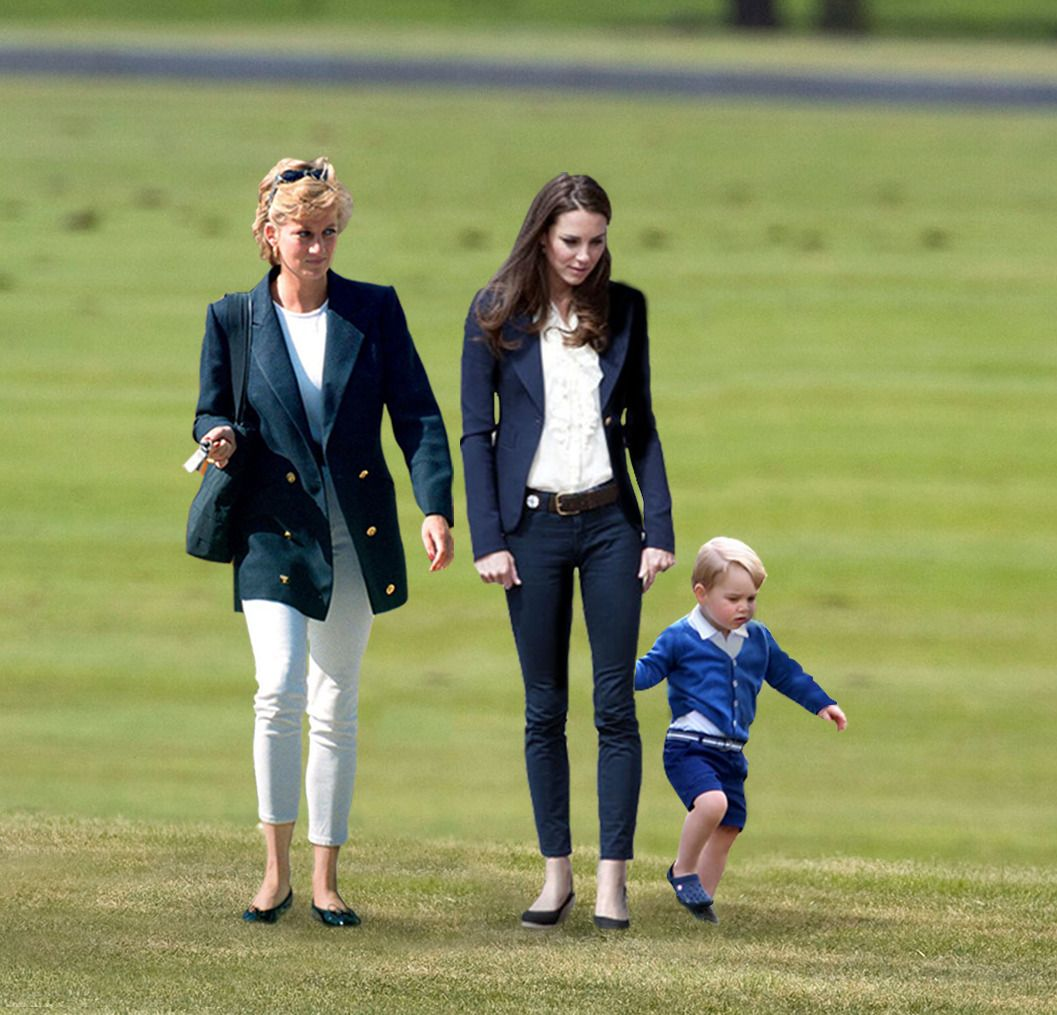 """the-royalfamilies: """"""""Diana, Kate, and George joined Harry and William this past weekend for polo."""" -X """""""