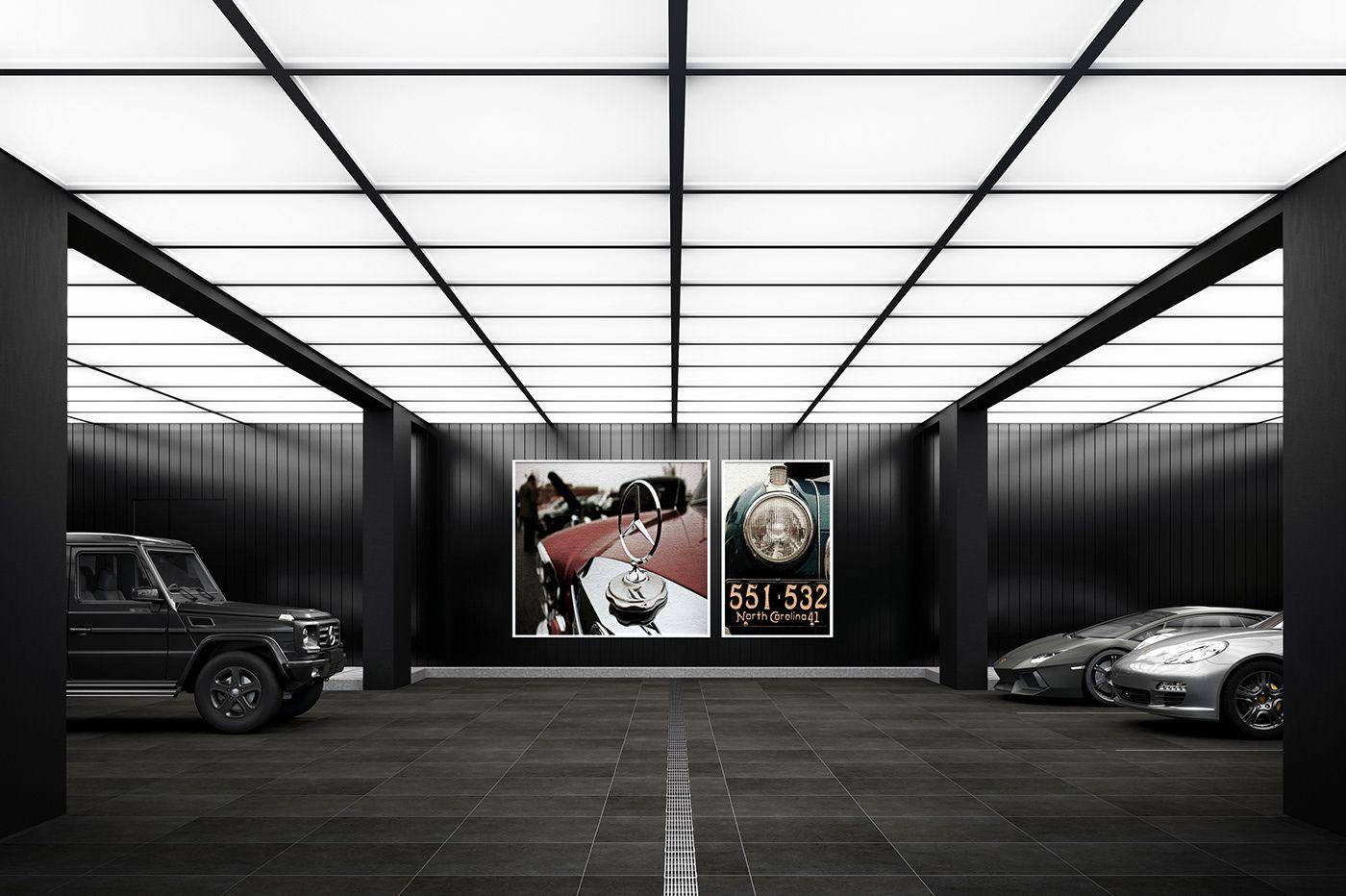 Bander Villa On Behance Garage Design Interior Garage Design Garage Photography Studio