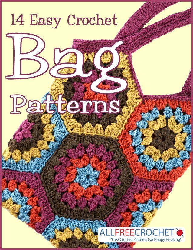 14 Easy Crochet Bag Patterns | Easy crochet, Crocheted bags and Crochet