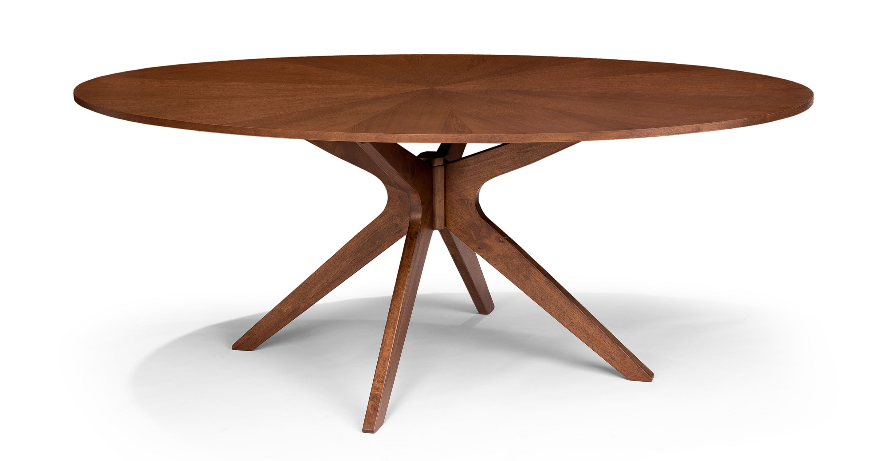 Conan oval dining table wood tables bryght modern for Mid century modern dining table