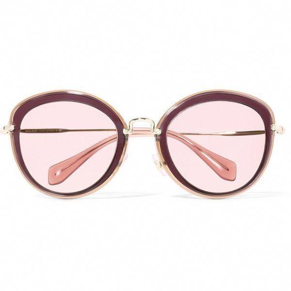 575188d86ad Miu Miu Noir round-frame acetate and gold-tone sunglasses ( 275) found