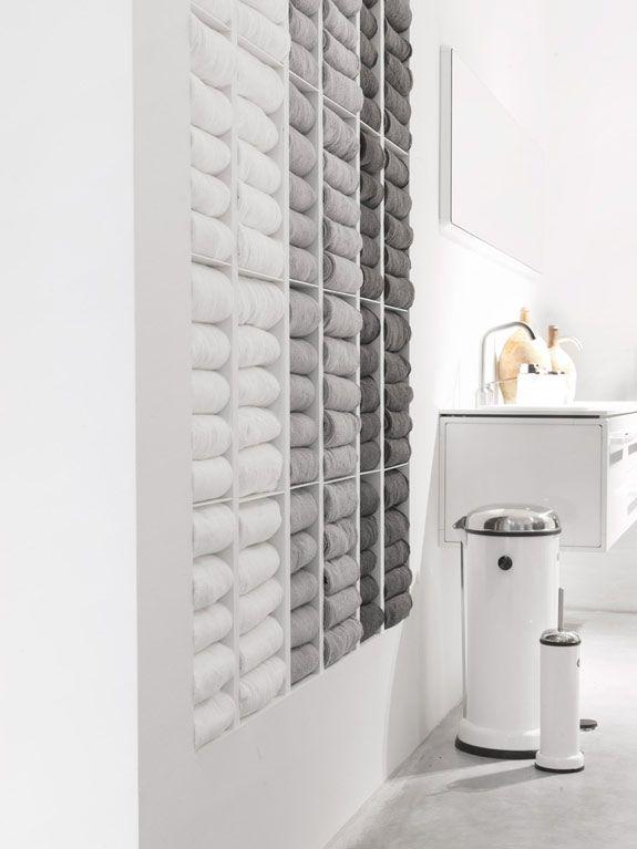 Badkamer ideeën, nisje badkamer, badkamer handdoeken | Badkamer ...