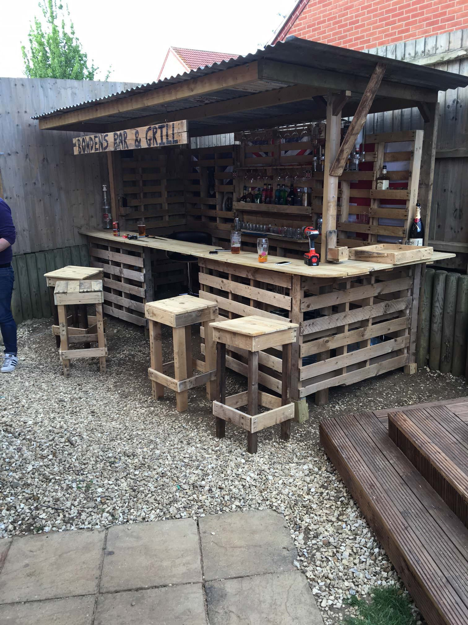 If Youu0027ve Got Pallets, You Can Make The Ultimate Garden Bar On Your