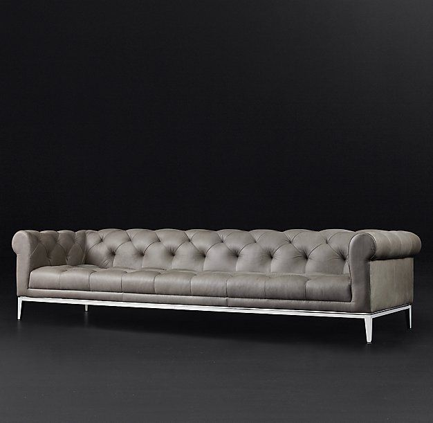 RH Modern - Italia Chesterfield Leather Sofa | RH Modern | Pinterest