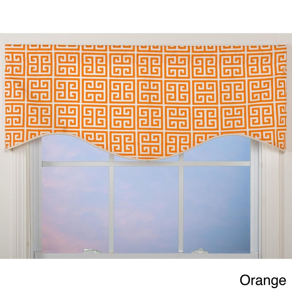 Greek key shaped valance overstock shopping great deals on