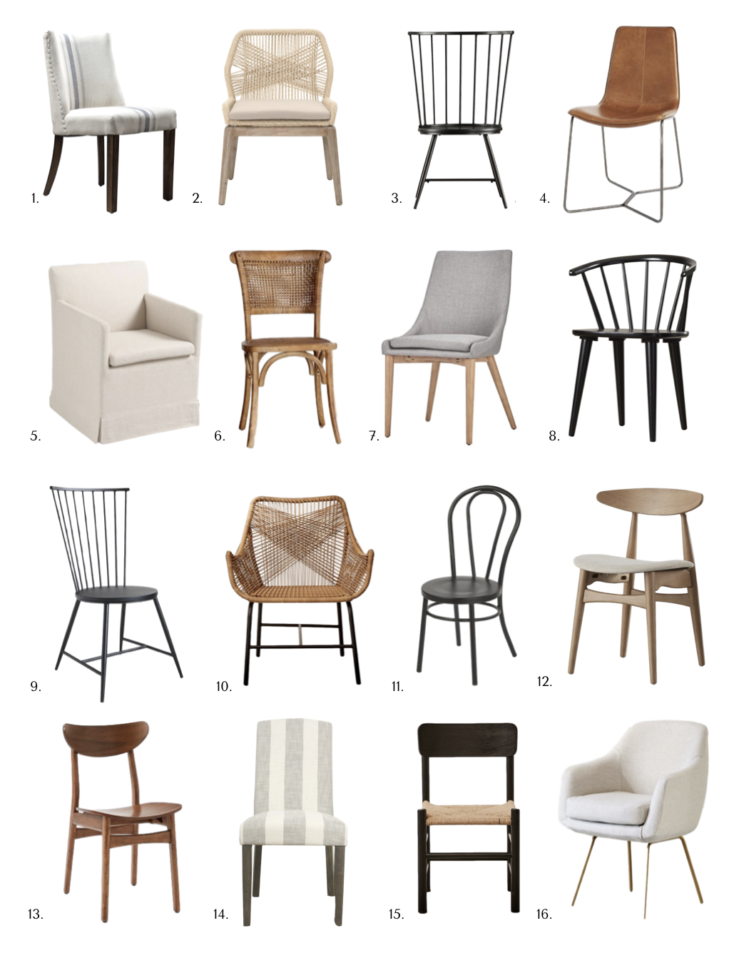 16 Dining Chairs You Need To Know About Danielle Oakey Interiors