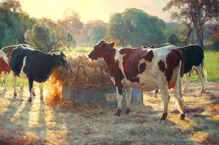 Dairy D'Light by John McCartin, oil on linen. Beautiful