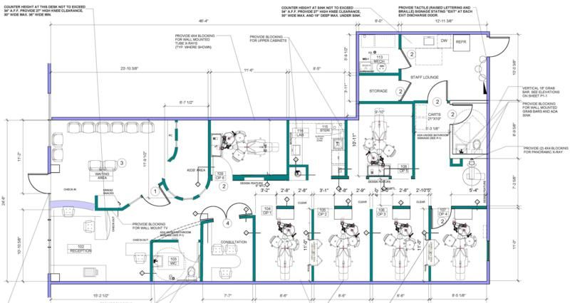Dental Office Build Out Blueprint Floorplan Homer Glen www - new blueprint hair design