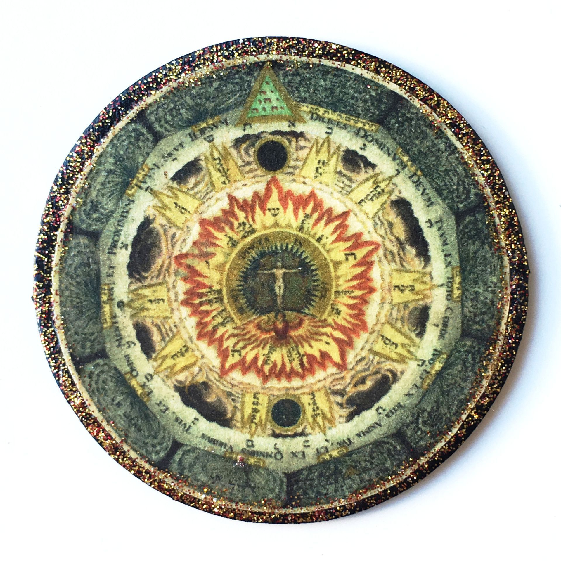 Round Wood Esoteric Tile