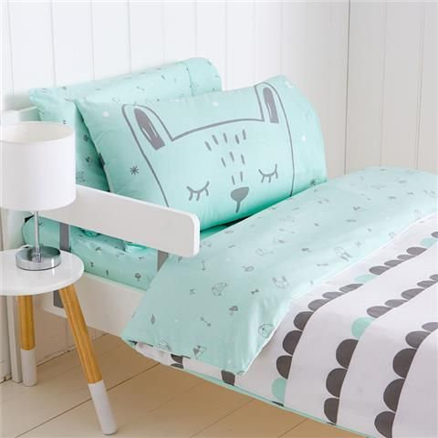 Tiny Little Wonders Printed Cotton Quilt Cover Set Cot Kmart