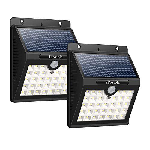 lampe solaire ext rieur lot de 2 iposible 33 led lumi re. Black Bedroom Furniture Sets. Home Design Ideas