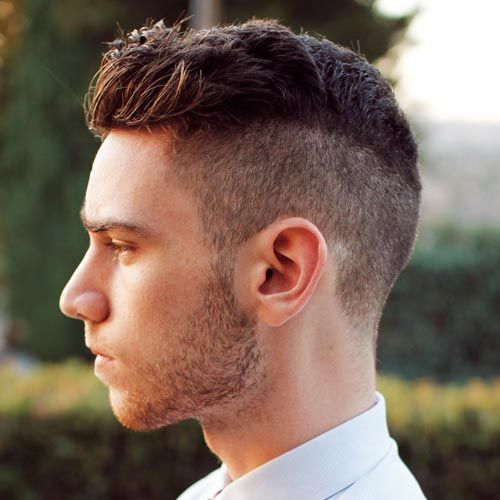 Mens Hairstyles 2014 Short Back And Sides Long On Top Hair Front For Thick