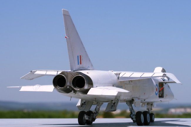 Tsr 2 Xr222 Exhaust Nozzles Photographed At Duxford 2009 The Hinged Panel In Centre Above Contains Braking Parachute