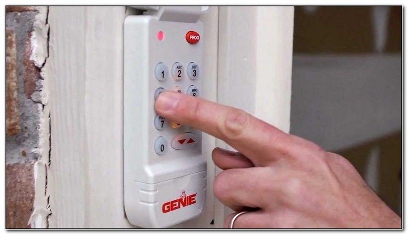 Genie Garage Door Opener Code Change Genie Garage Door Garage Door Keypad Garage Doors