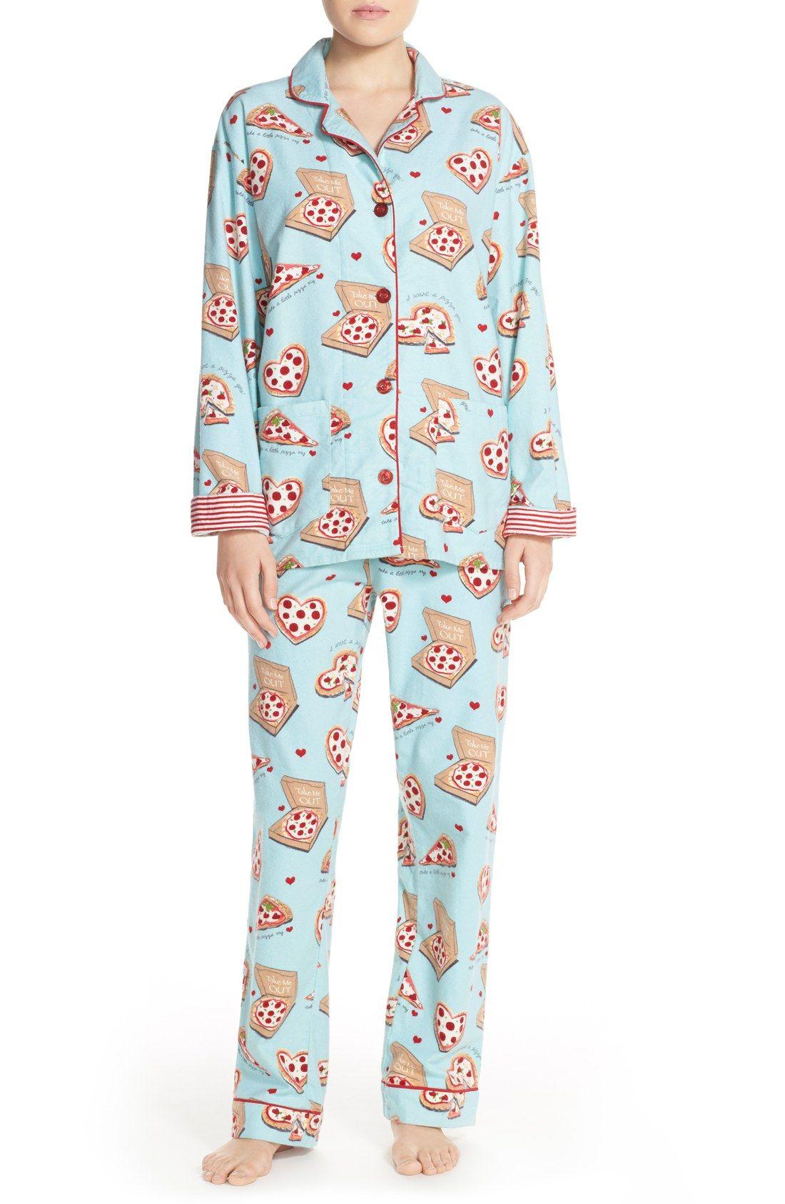 c522d421c9 PJ Salvage Print Flannel Pajamas - Size MEDIUM
