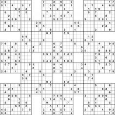 photo regarding Printable Samuri Sudoku called sudoku printable grids -