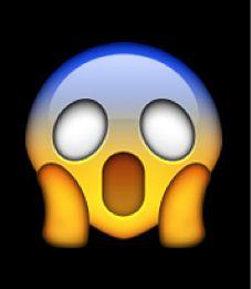 The Emoji Scream On A Black Background Emoji Photo Emoji Emoji Characters