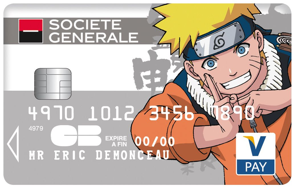 Carte #Collection V Pay #societegenerale #Naruto #BD © 2002 MASASHI KISHIMOTO All Rights ...