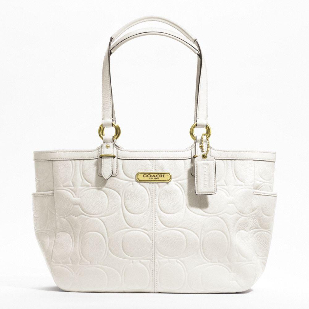 Coach Handbag Gallery Embossed Leather