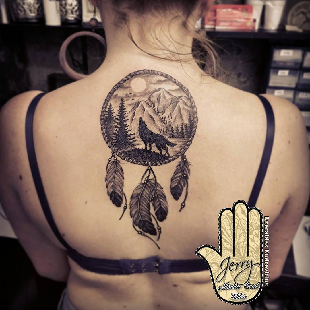 Wolf tattoo dreamcatcher - photo#43