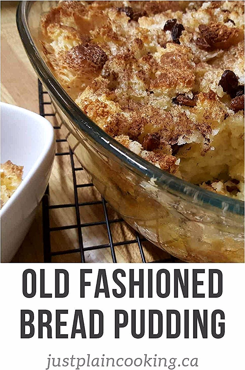 Old fashioned bread pudding is an easy and simple ...